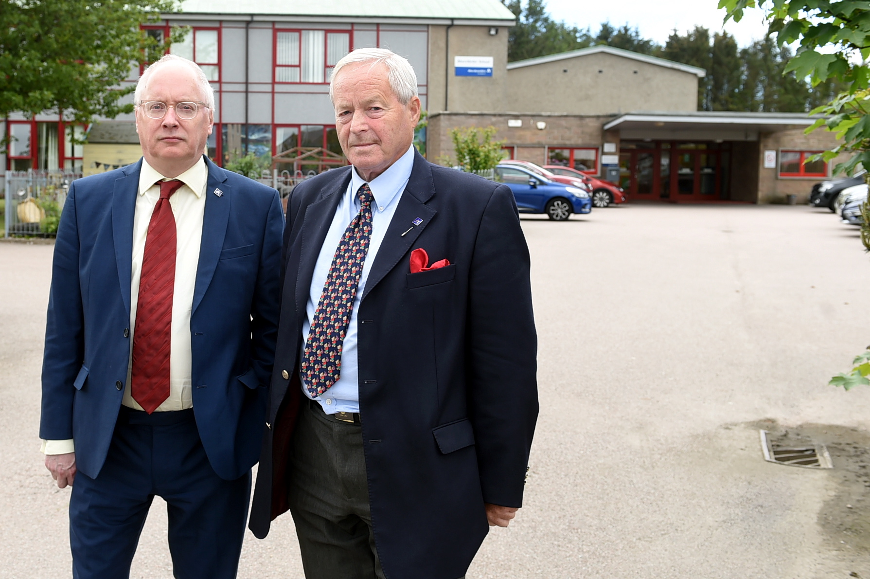 Pictured is Glen Reynolds, left, and Mike Roy - both councillors were involved in the Aberchirder Primary School action plan discussions. Picture by Jim Irvine.