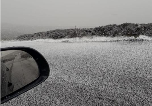 Snow near Gairnshiel on Friday