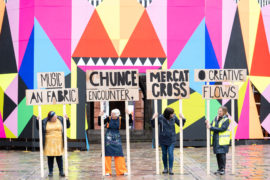 Some of those artists who took part in the Look Again Festival in Aberdeen last year.