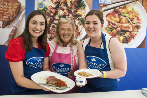 The winning chefs - Grace Brown, judge Jak O'Donnell and Eilidh Davidson.