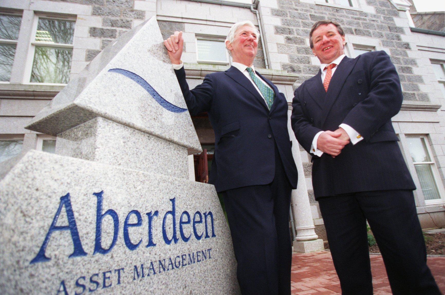 Aberdeen Asset Management's former Chairman, Angus Pelham Burn (left)