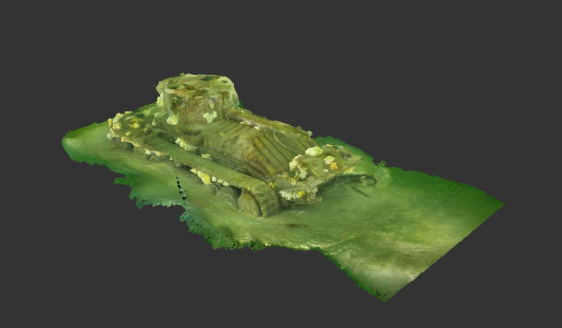 A 3D model of the tank at Burghead.