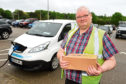 Ron Hardie, who runs courier service Nordrop from Aberdeen. Picture by Kenny Elrick.