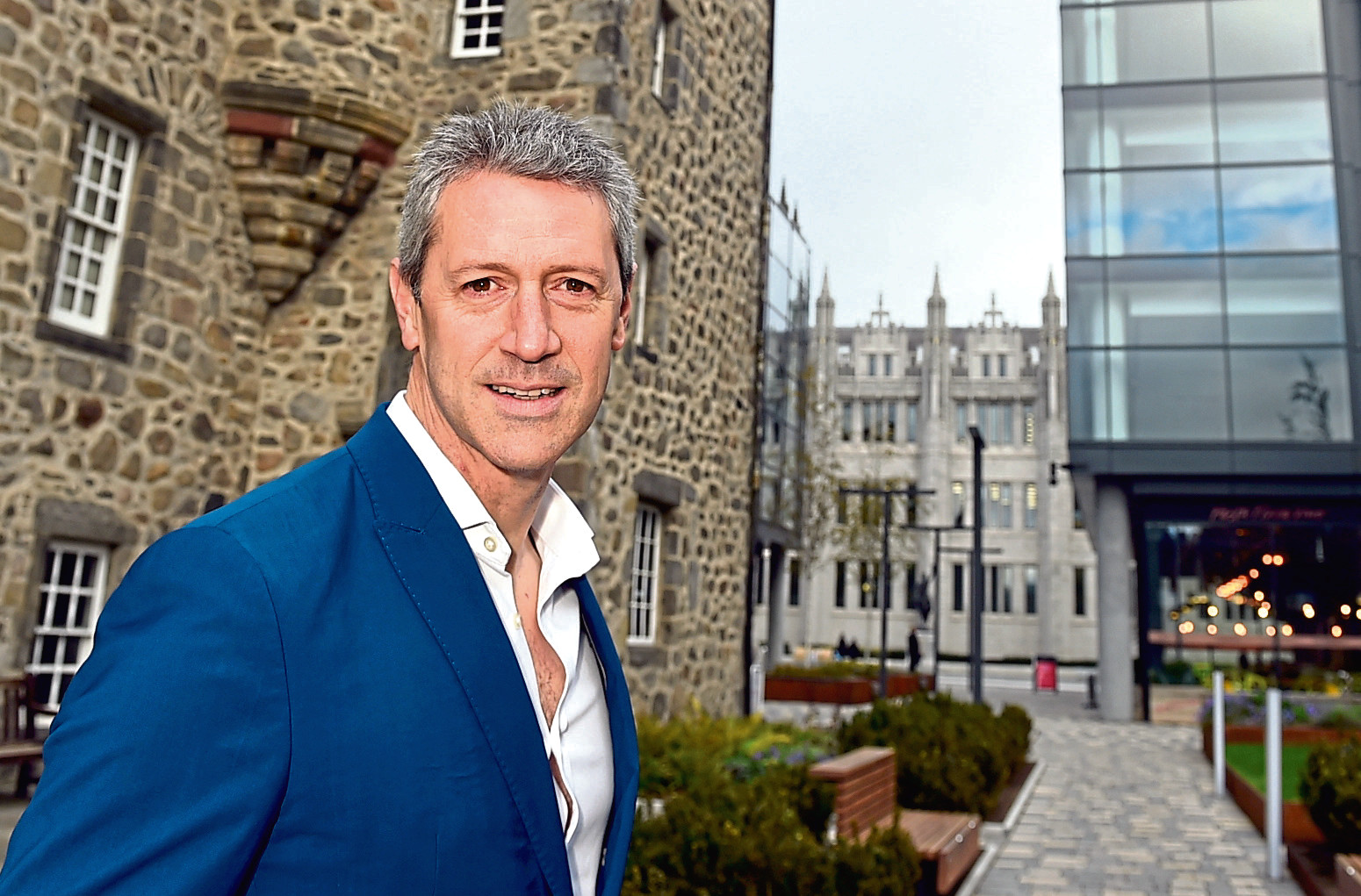 Chris Foy, chief executive of VisitAberdeenshire, pictured at Marischal Square, Aberdeen.  Picture by Jim Irvine