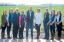 The host family, in photo from the left Lauren Stronach, Aimee Stronach, Stewart Stronach, Hazel Stronach, Stewart Stronach, Fiona Sutherland, Michael Stronach, Ellie Sutherland and Emma Stronach.
