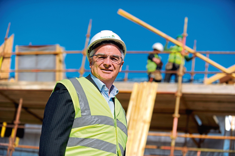Chairman of Springfield Property, Sandy Adam, on the Waukmill site, Elgin.