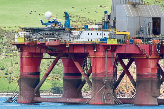 The Greenpeace occupation in the Cromarty Firth. Picture by Sandy McCook