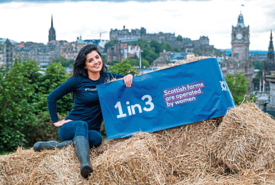Storm Huntley was in Edinburgh promoting the RBS campaign.