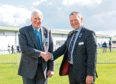 The Royal Highland Show Sir William Young award winner Jim Goldie with RHASS director Eric Mutch at the Royal Highland Show.