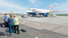 Picture by SANDY McCOOK  1st June '18 Inverness Airport.   A Heathrow bound British Airways Aircraft on the stand.