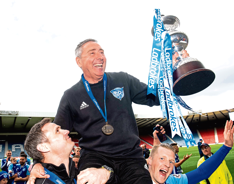 McInally guided Peterhead to League 2 title success last season.