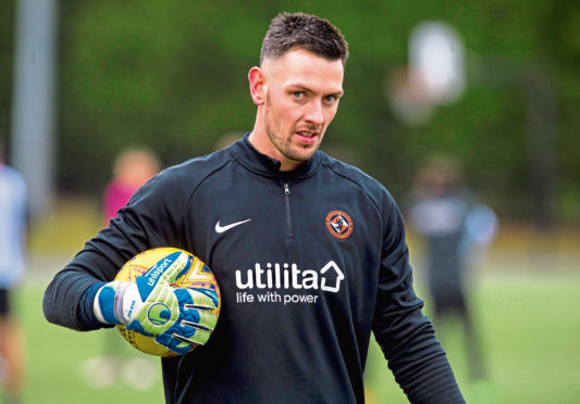 29/01/19 DUNDEE UNITED TRAINING ST ANDREWS New Dundee United loan signing Ross Laidlaw