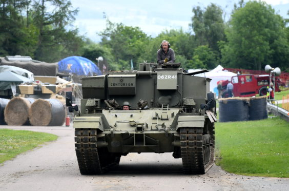 Pictured is a Centurion Armoured Vehicle at the Grampian Transport Museum annual Military Tattoo Picture by Scott Baxter 09/06/2019