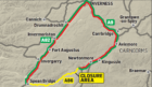 A 112 mile long diversion was put in place to allow motorists to pass the area.