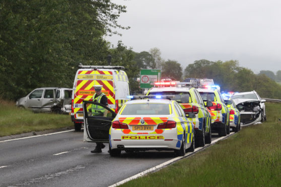 The A9 was closed following a 4-vehicle RTC near the Evanton turn-off.