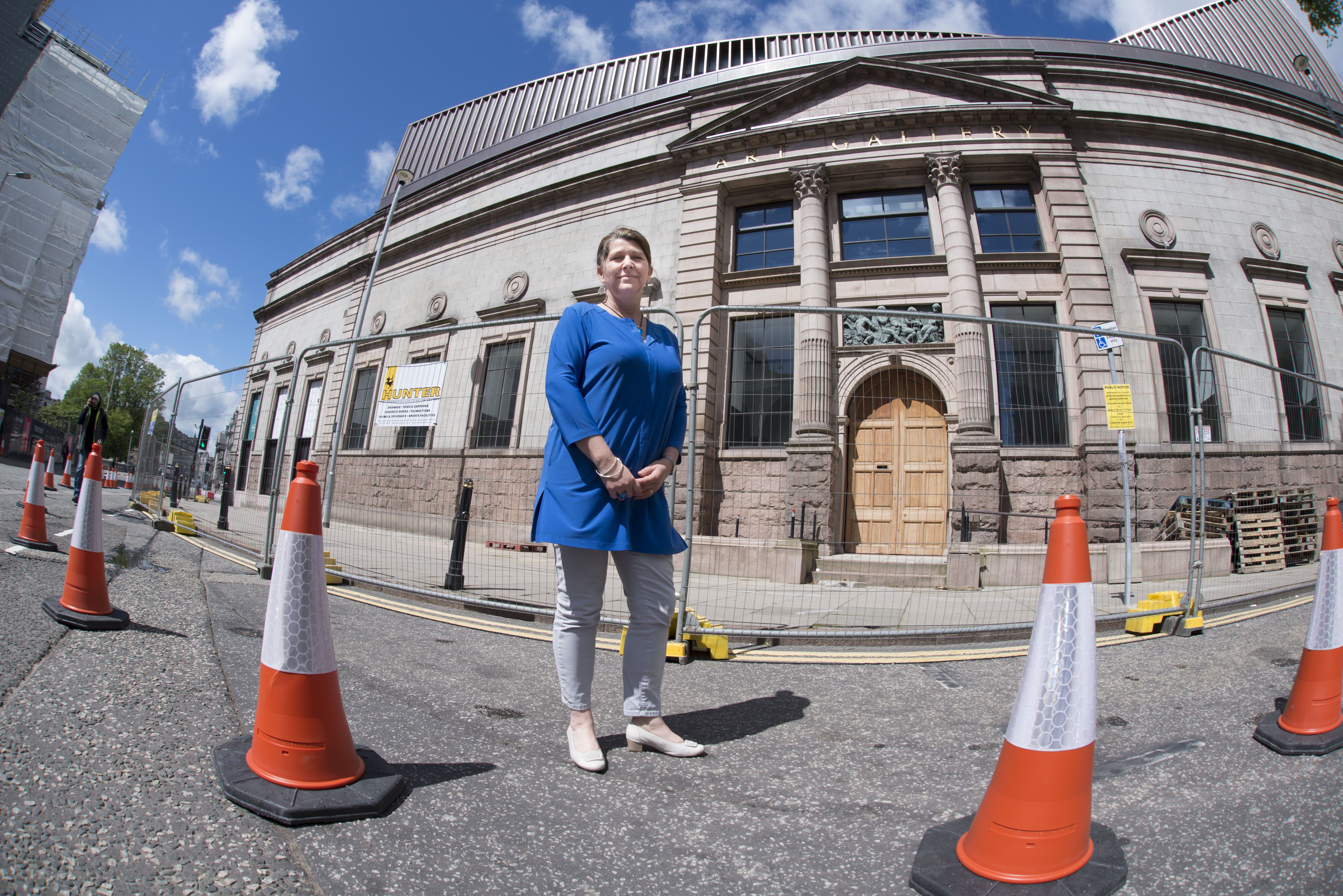 Councillor Marie Boulton, lead for the City Centre Masterplan outside Aberdeen art gallery.