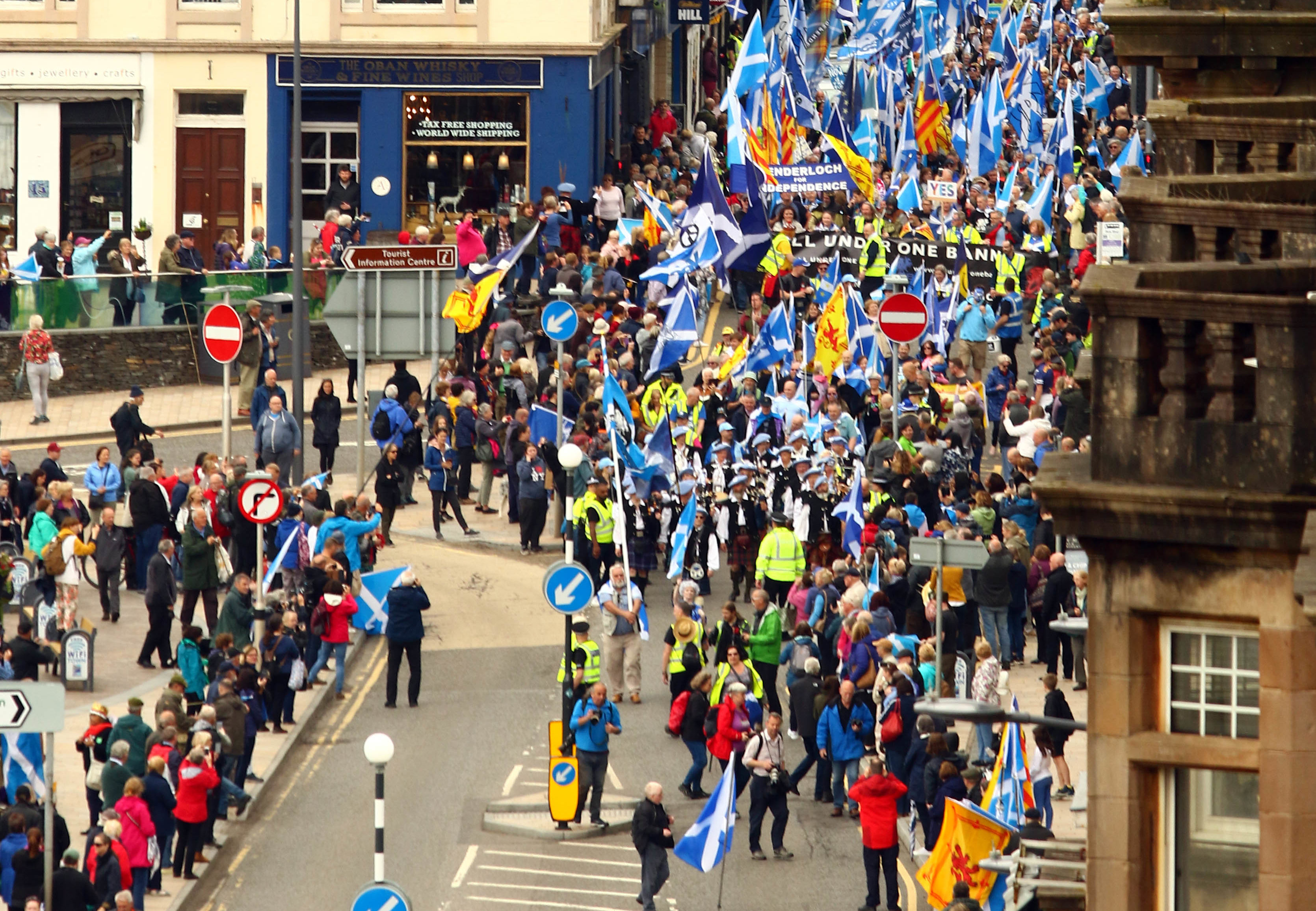 The march in Oban