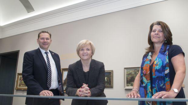 Councillor Jenny Laing, Councillor Douglas Lumsden and Councillor Marie Boulton.