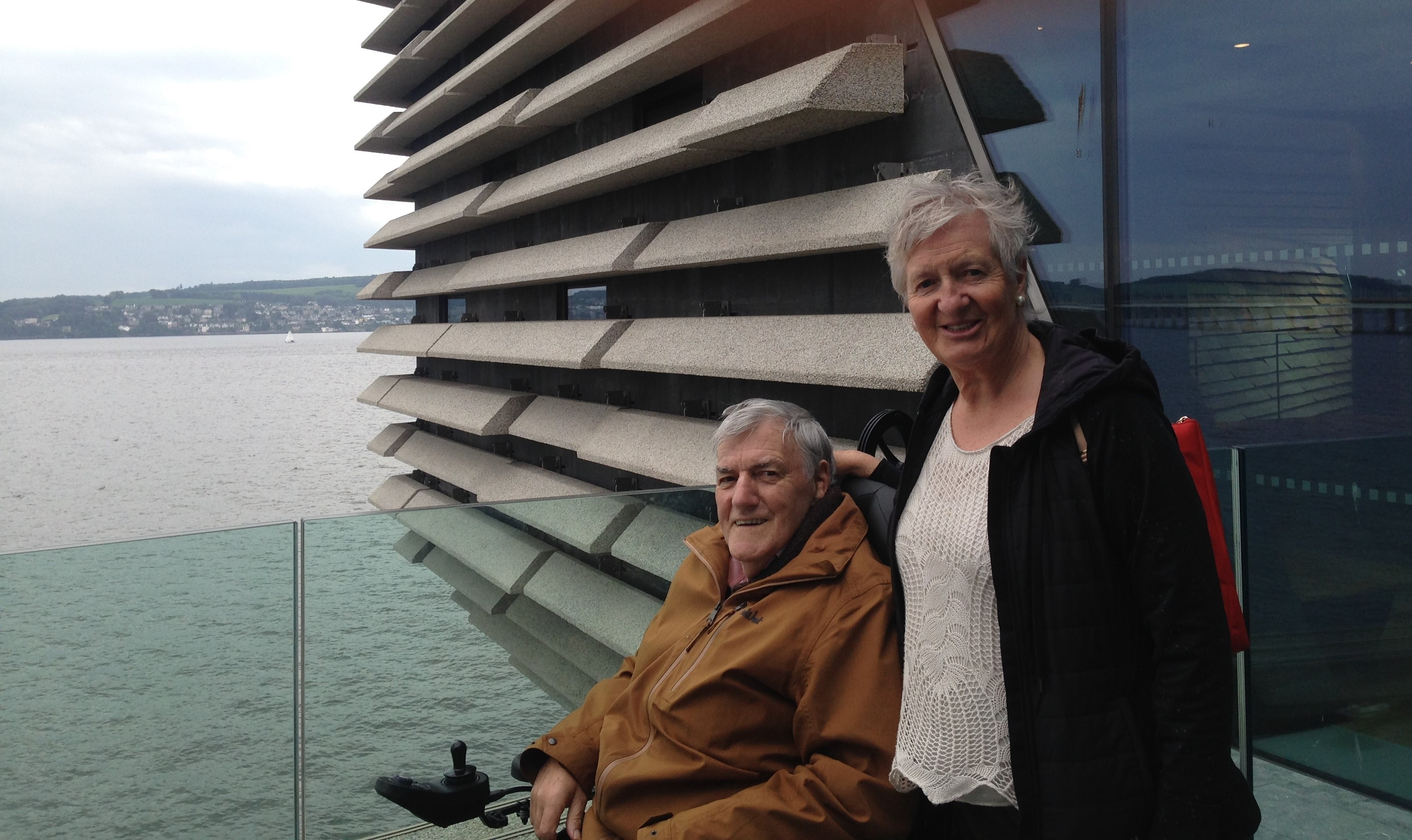 Angus Paterson with his wife Carole in Dundee.