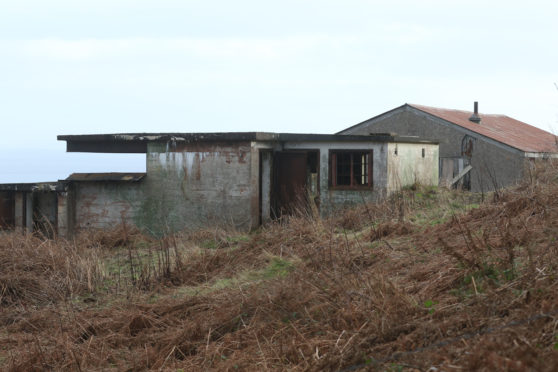 Old military buildings on the South Sutor at Cromarty.