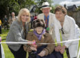 David Henderson chairman of the Isobel Fraser Care Home Trusteeswith Provost Helen Carmichael home resident Nora Wallace and BBC presenter Isabel Fraser
