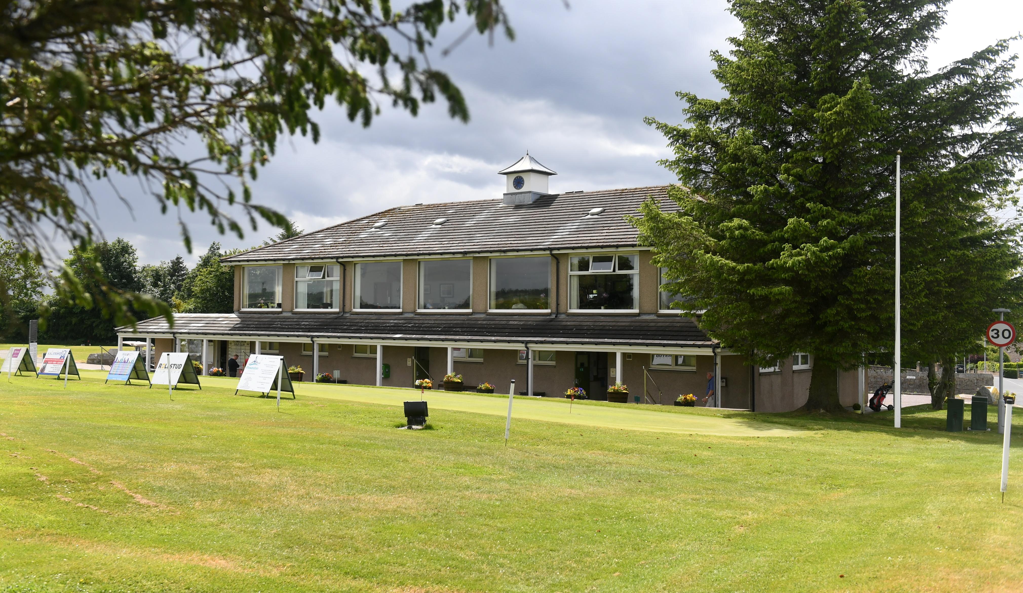 Oldmeldrum Golf Club has been vandalised.