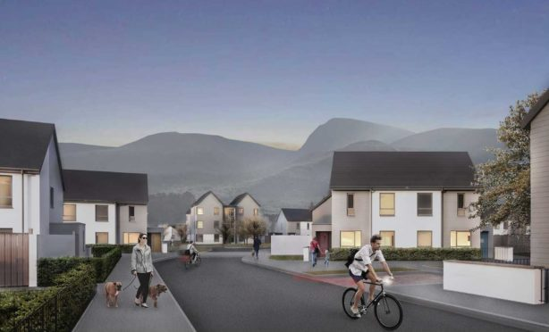 Artist impression showing the proposed housing development in Fort William.