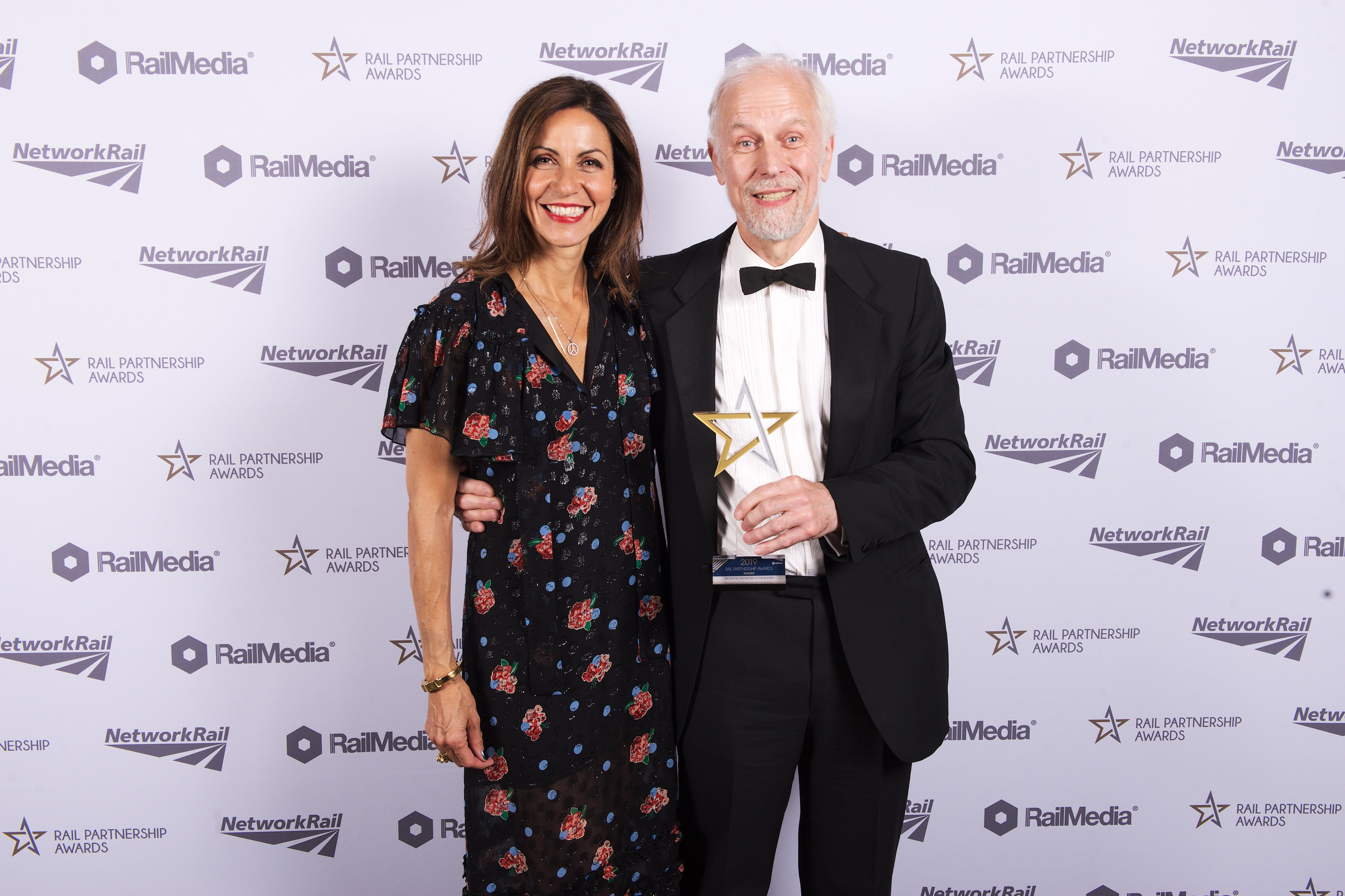 FRHT chairman Jon Tyler receives a national award from Julia Bradbury.