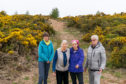 Annie Crawford, Jill Denton, Daphne Francis and John Atkinson fear the development could destroy the natural environment near Findhorn.