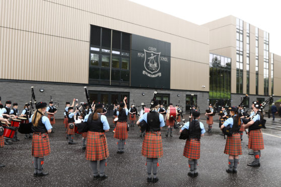 The new Oban High School building was formally opened last year.