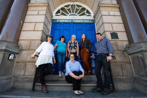 Forres Area Community Trust took over the management of Forres Town Hall in 2018. Pictured rear: Vicky Flood, Kirsty Williams, Janice Cooper, Kirtsy-Ann Wilson, Rory Dutton. Front: Debbie Herron.