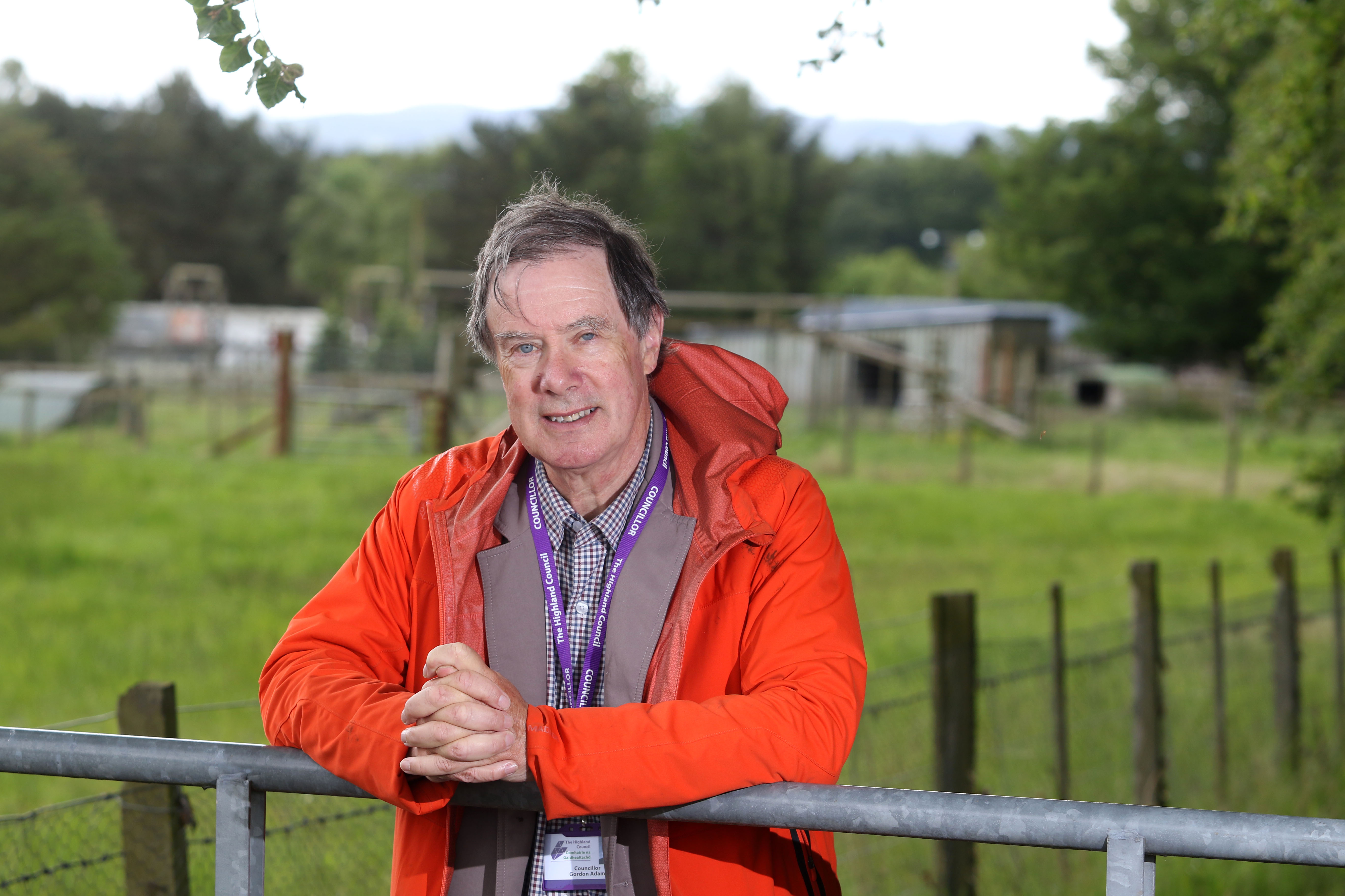 Councillor Gordon Adam at the site of the now-closed Black Isle Wildlife Park