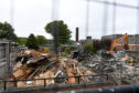 Demolition at Kincorth Academy