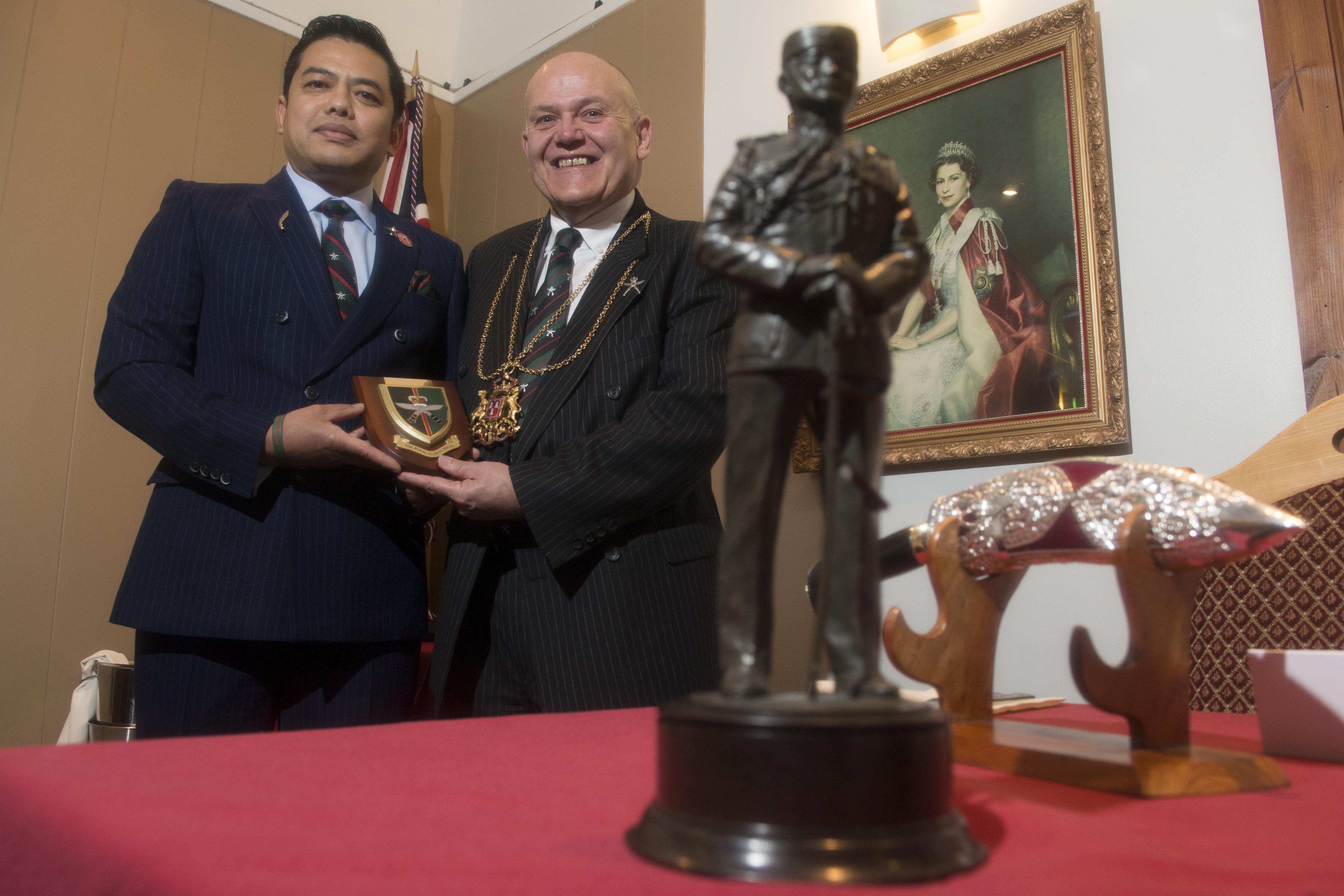 31/05/19 The Lord provost attended the North East Gurkha Regimental  Dinner and was made an honorary member of the NESGA-Norteh East Scotland Gurkha Association, President of NEGA- Honorary Lieutenant Menbadahadur Gurung,