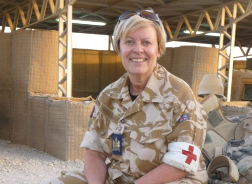 Dianne McLeish while serving in Afghanistan in 2009.