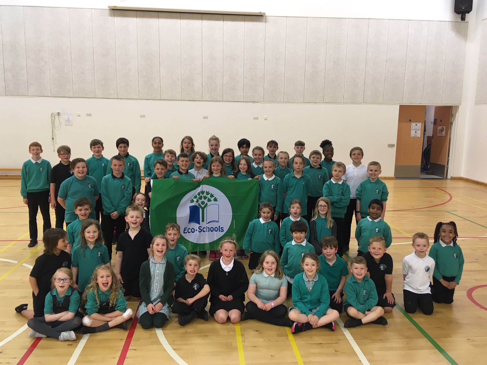 Hazlehead School pupils proudly show off their third Green Flag award