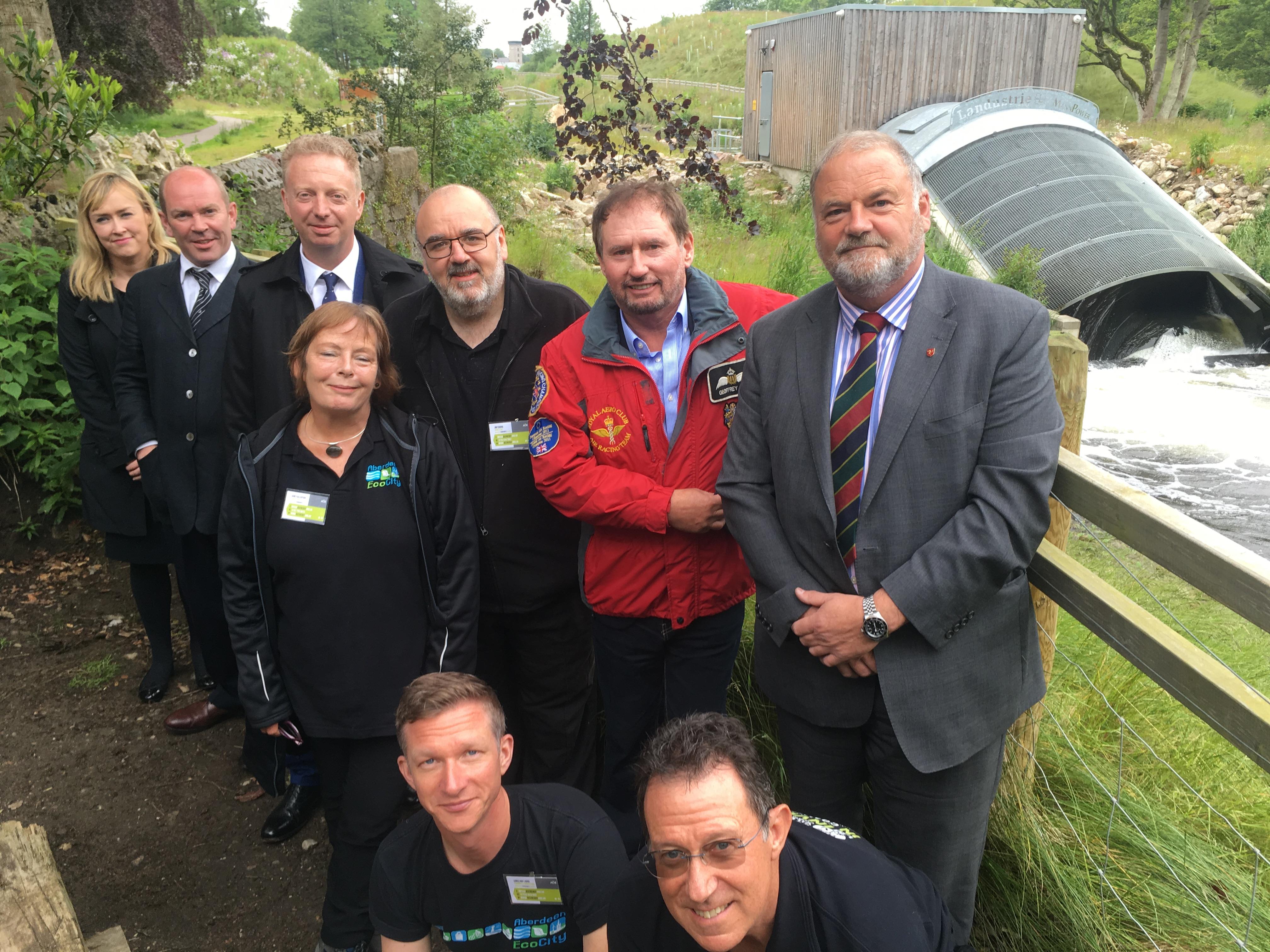 Delegates visited the hydro scheme near Donside village