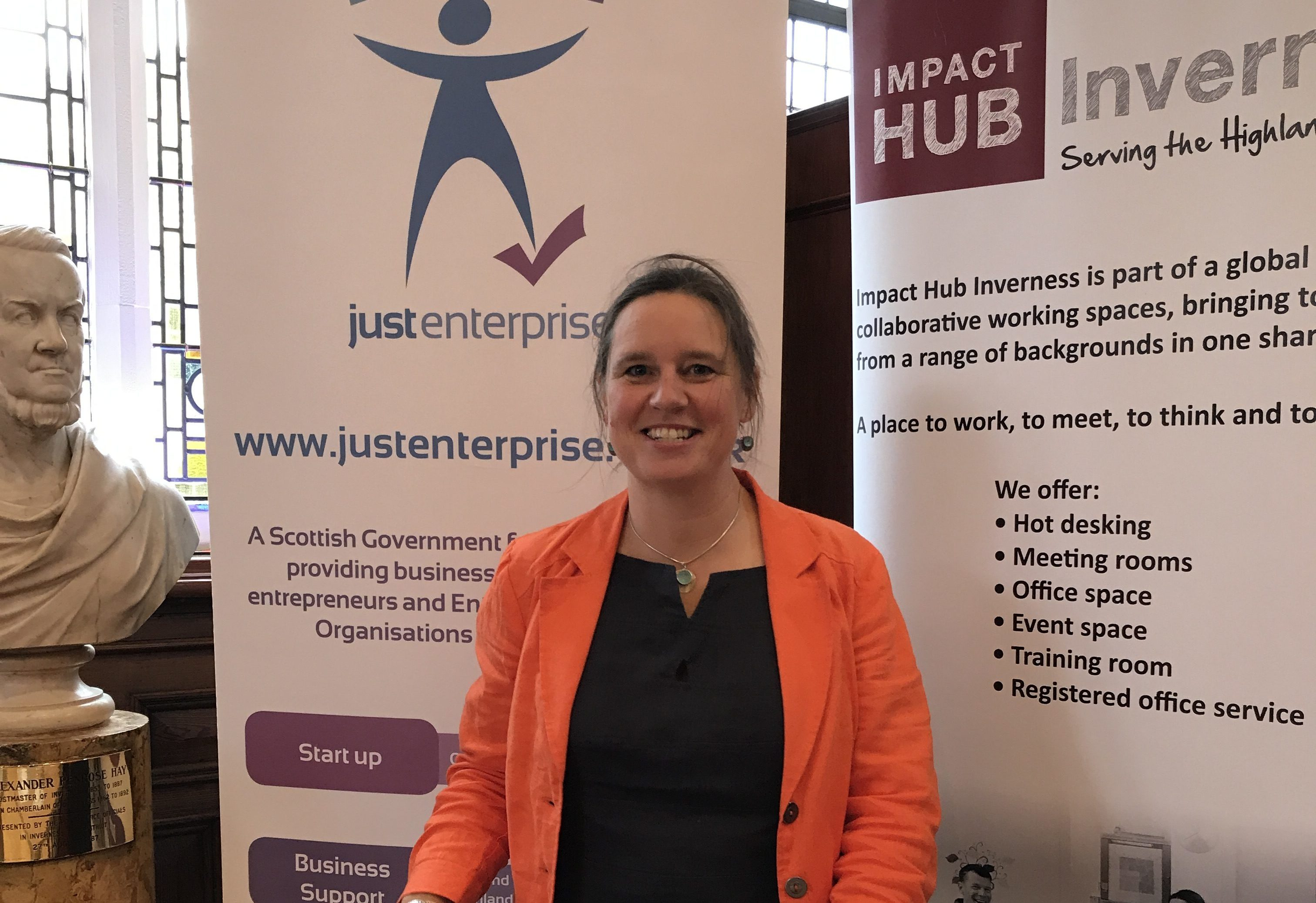 Polly Chapman of Impact Hub Inverness