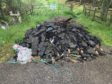 Rubbish dumped in lay-by on A9.