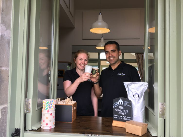 Gill de Oliveira with her husband Weller will launch a new take-away aspect to their Olive Tree Café to meet demand.