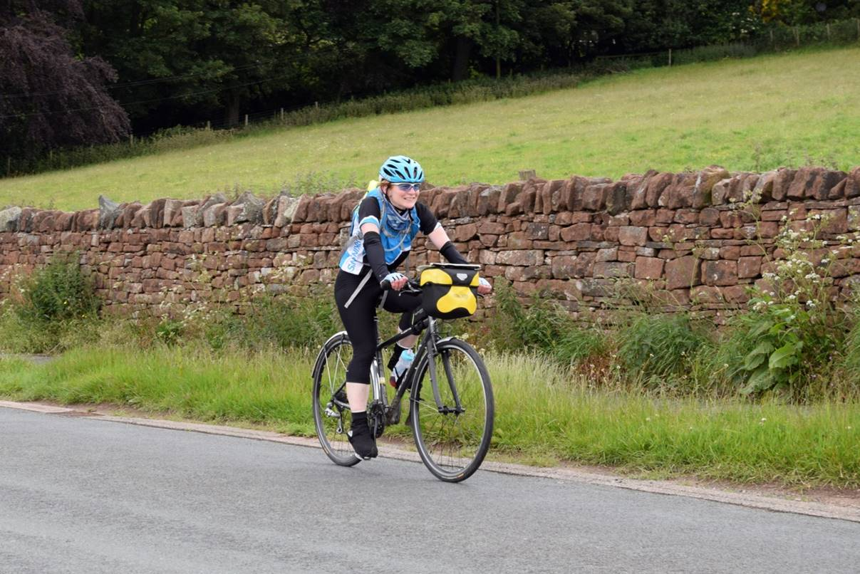 Isla Routledge cycled 140 miles to support Parkinson's UK.