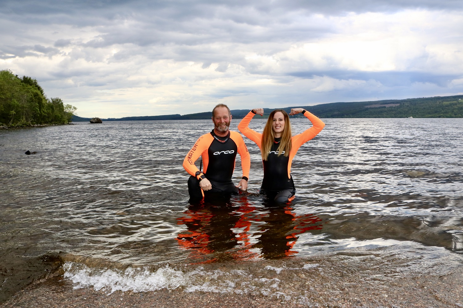 The pair who work onboard the Loch Ness by Jacobite will swim the mile long stretch for charity.