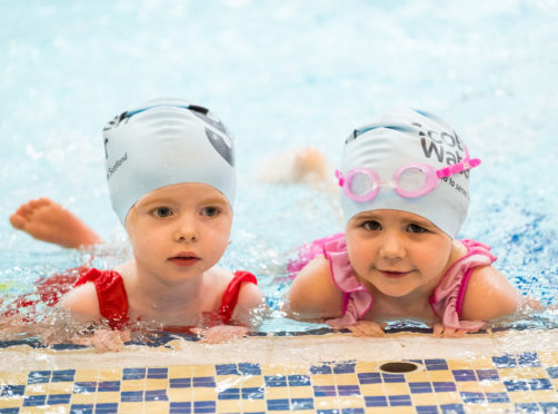 Scottish Water Learn-To-Swim Partnership Launch - Tollcross International Swimming Pool - Glasgow. Picture Shows;  young swimmers at the launch event, Wednesday 21 February 2018.  ©Stuart Nicol Photography, 2018
