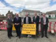 Councillors Iain Taylor, Alastair Forsyth, Brian Topping, Sandy Duncan and Stephen Calder have slammed those for targeting the road workers