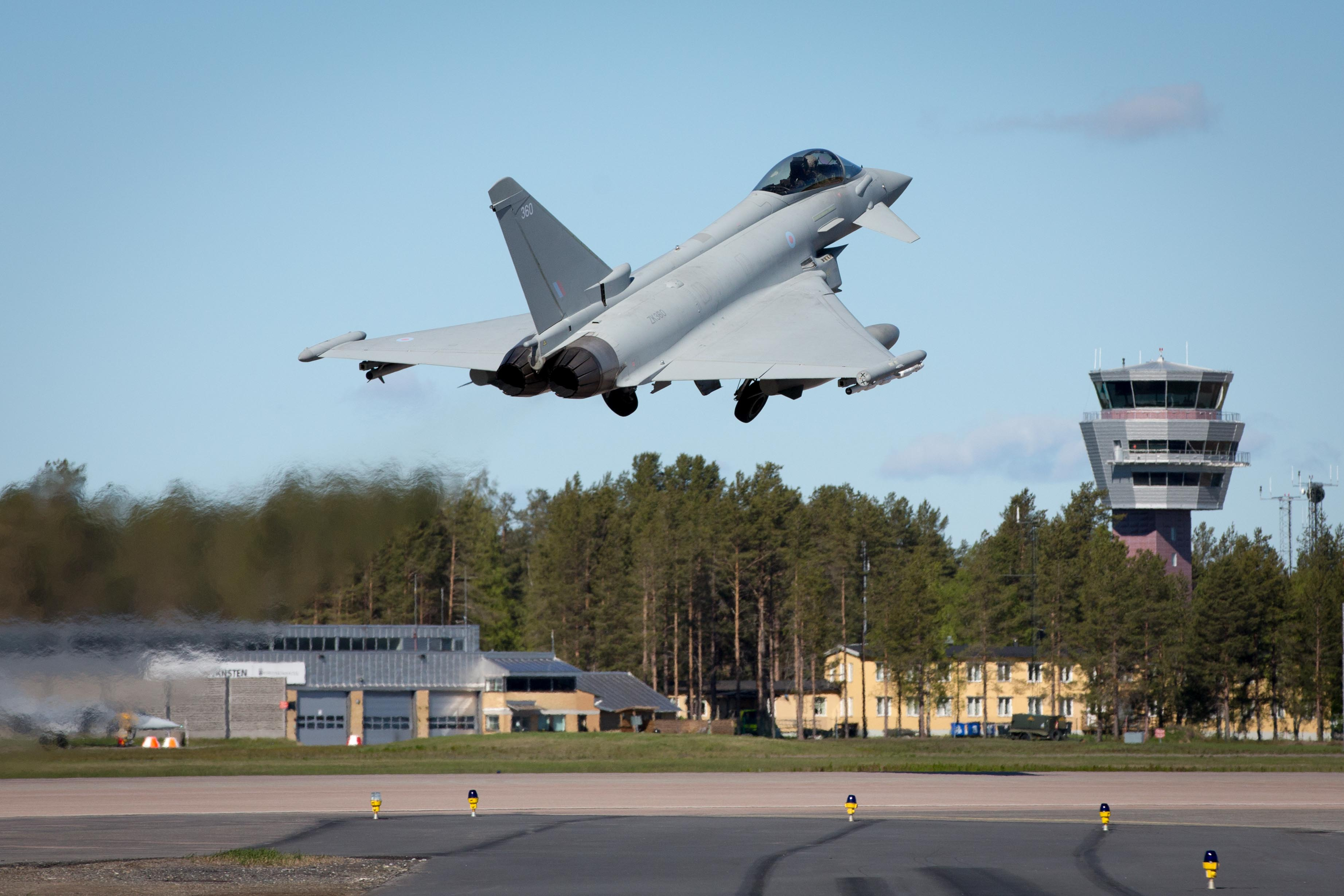 RAF Typhoon takes off from Luleå-Kallax air base.  Photos by SAC Anna Lythgoe RAuxAF.