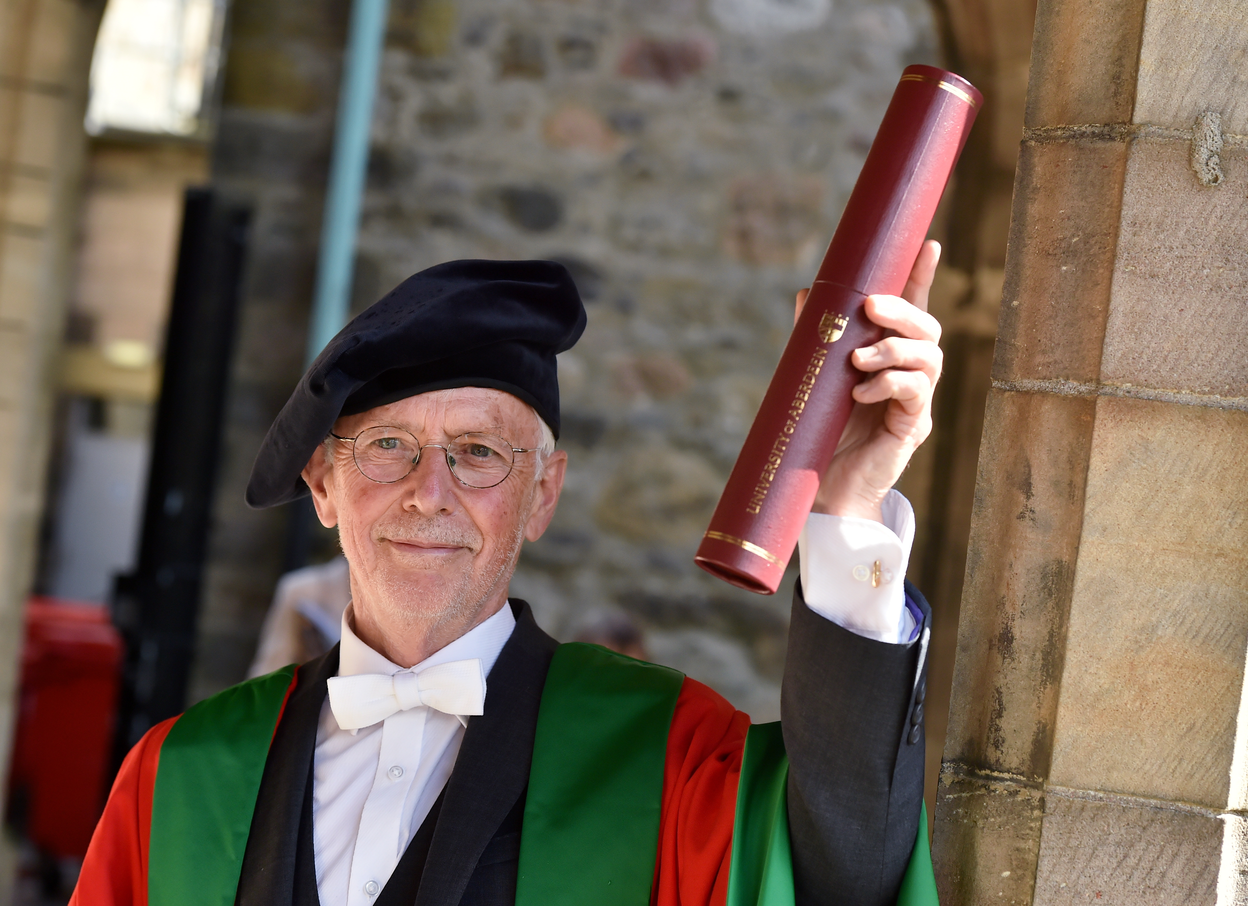 Professor Mike Greaves was given an honorary degree