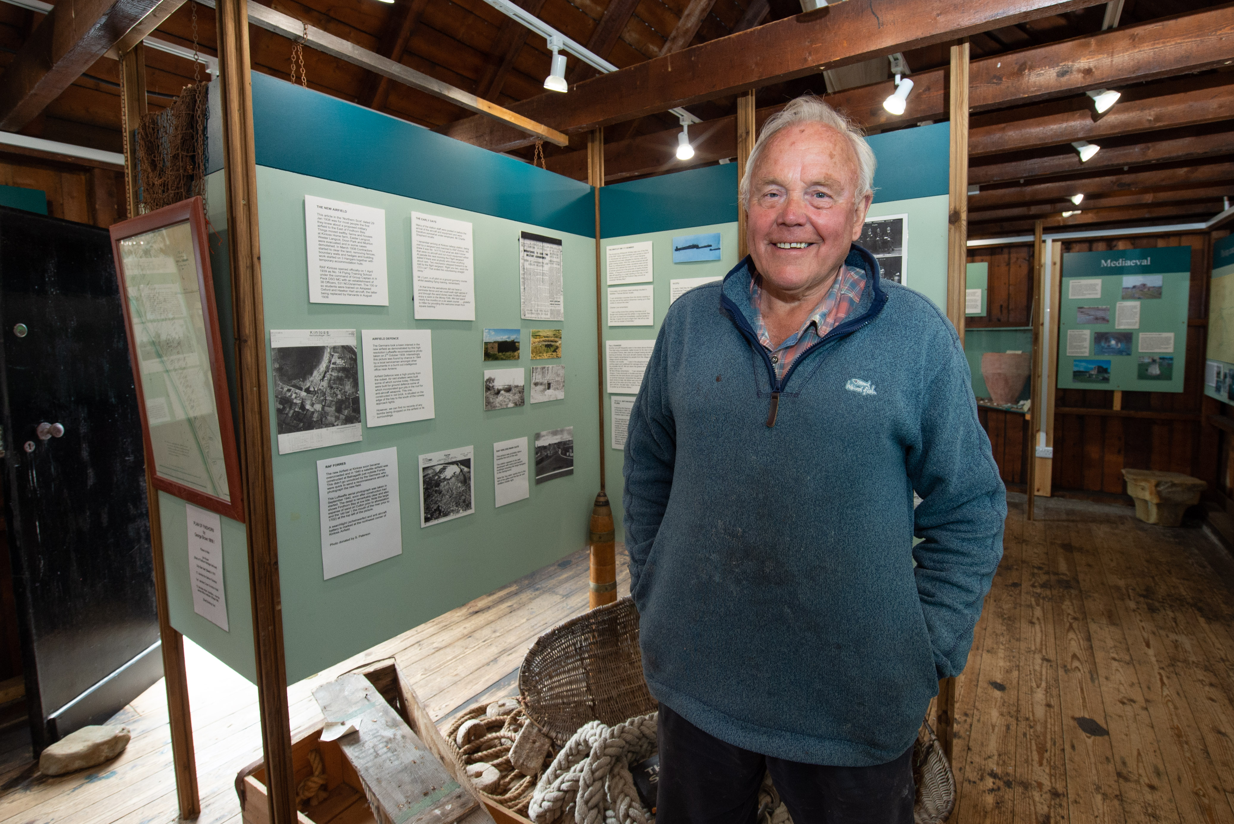 Chairman of Findhorn Heritage, Tim Negus. Picture by Jason Hedges