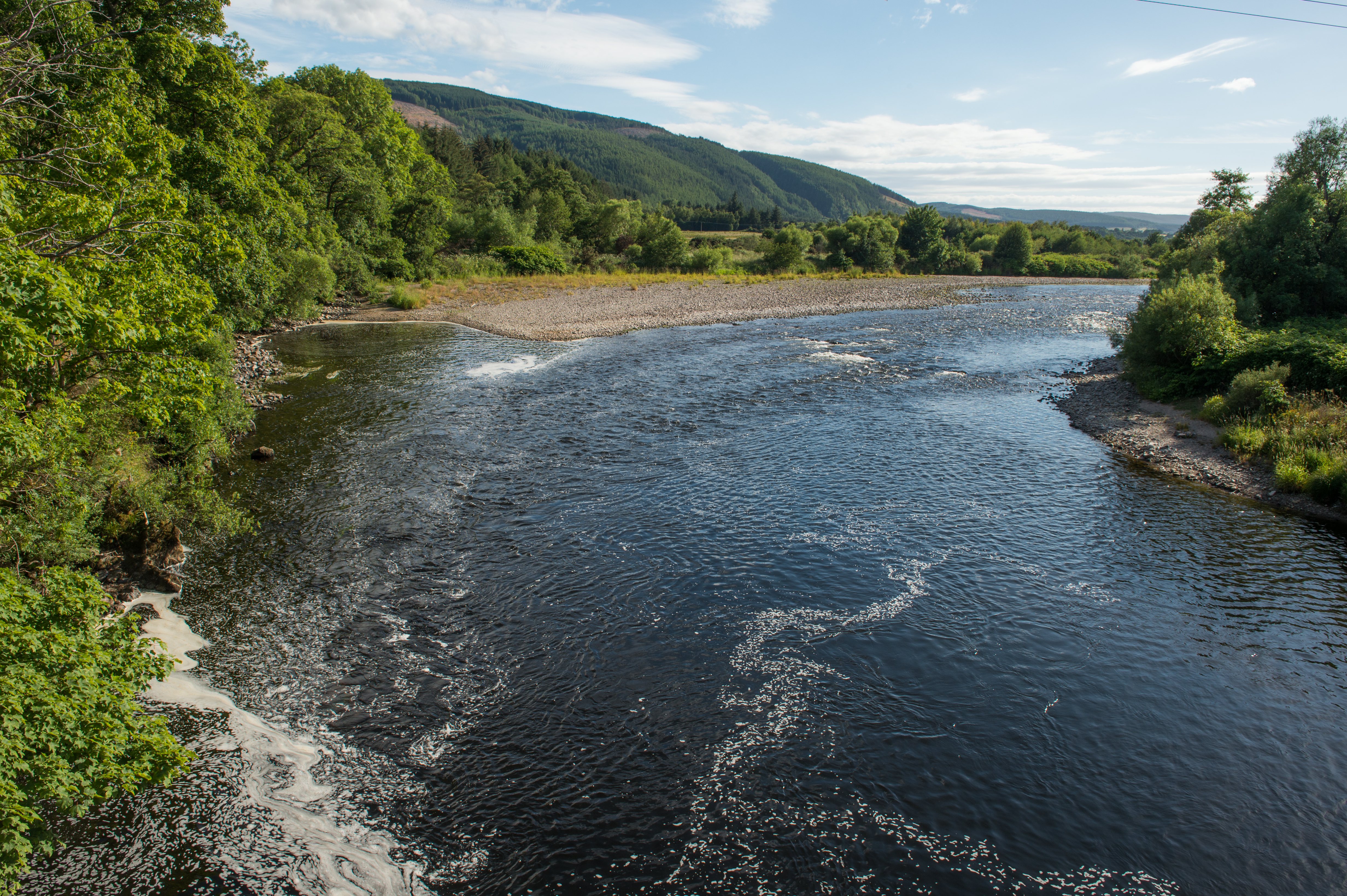 The River Spey at Boat O Brig in Moray. Picture by Jason Hedges.
