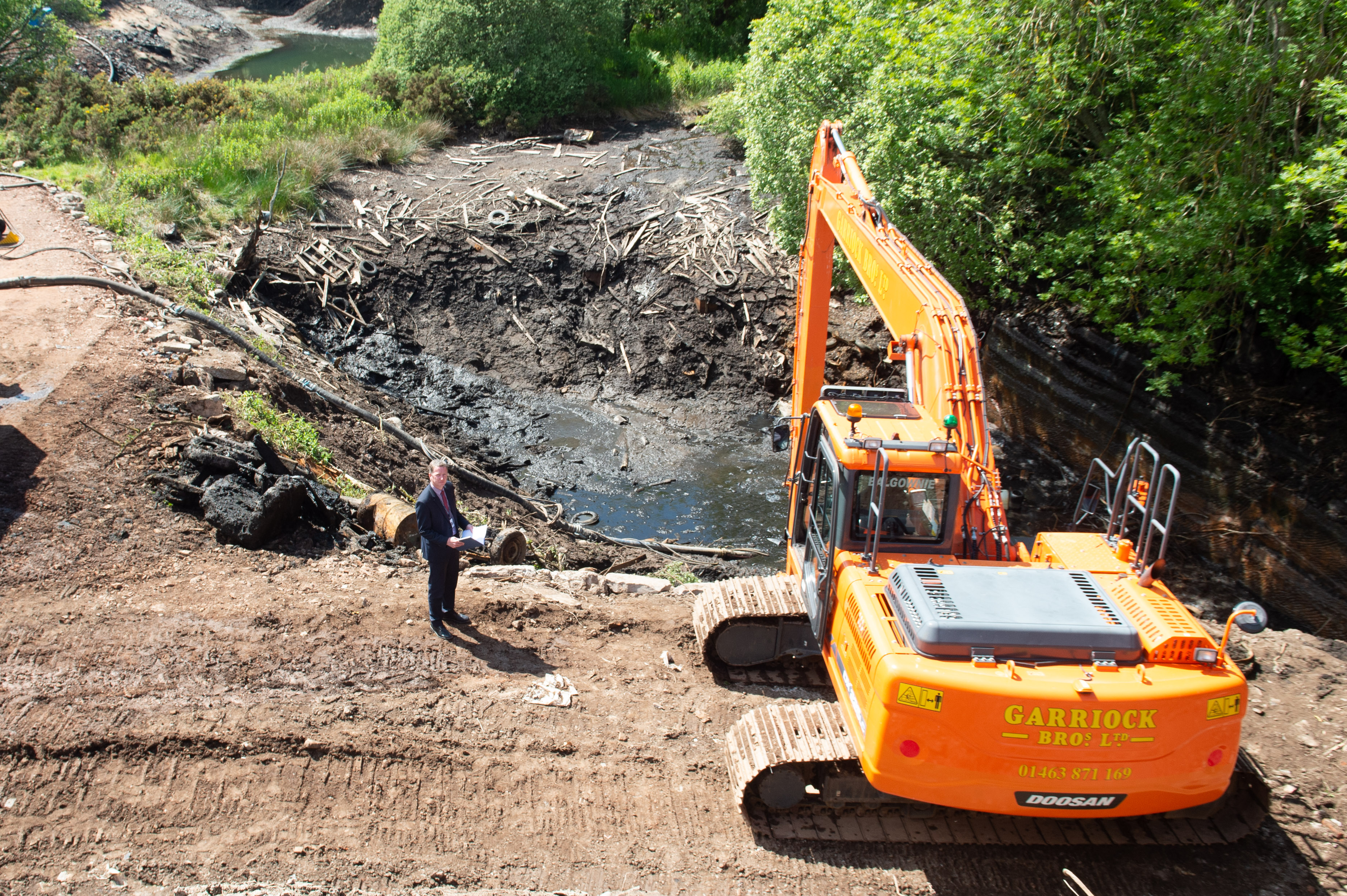 DI Brian Geddes is pictured along with general views of the latest development of Leanach Quarry today.    Picture by Jason Hedges