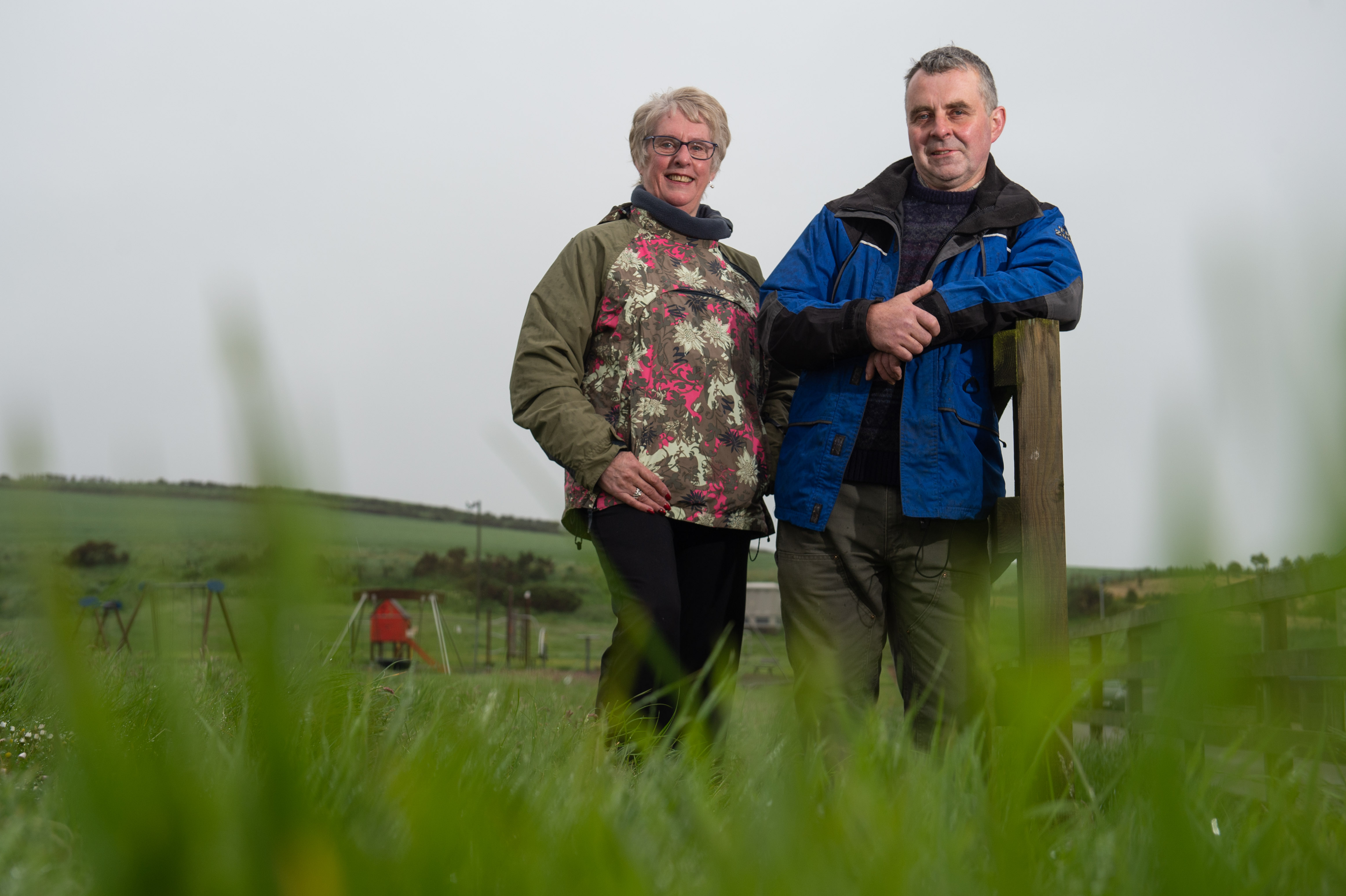 Elizabeth Williamson (Community Councillor for Cullen and Deskford Community Council) and Stewart Black (Chairman of Cullen and Deskford Community Council) at Logie Park, Cullen, Moray.  Picture by Jason Hedges